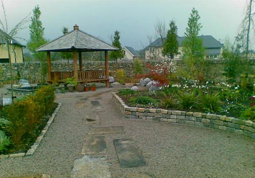 Hard landscaping garden path